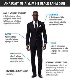 Slim fit suits are stylish, but are often tricky to get right. Find out just how the slim fit suit should look and feel on you. Mens Fashion Suits, Mens Suits, Men's Fashion, Grey Suits, Formal Fashion, Fashion Guide, Couture Fashion, Suit Guide, Slim Fit Suits