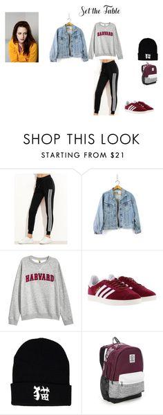 """""""outfit 4"""" by mazzagliadavide on Polyvore featuring moda, H&M, adidas e Victoria's Secret"""