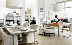 lovely studio space  - Suzanne Kasler Interiors... it is just as amazing in person!