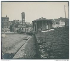 Italia, Roma. Tempio di Vesta, ca. 1905  vintage silver print. Italy.  Tirage argentique d'époque   7,5x9