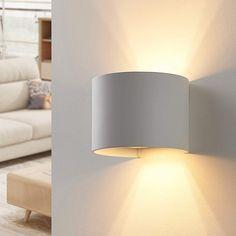 Applique a LED Zuzana tonda, bianca Applique Led, Led Lampe, Wall Lights, New Homes, Lighting, Home Decor, Design, Products, Environment