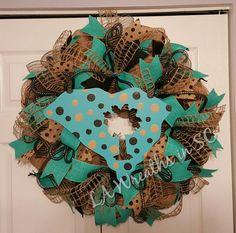 Coastal Carolina University mesh wreath                                                                                                                                                      More