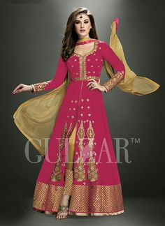 8b93627659 Buy Red Embroidered Georgette Sami stitched Anarkali with Pant  women-ethnic-wear online