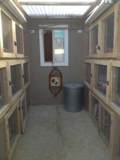 stacked rabbit hutches