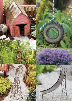 42 Fairy Garden Ideas - FARMHOUSE FAIRY GARDEN!