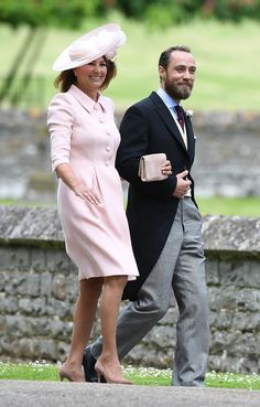Carole Middleton Pippa's mother and James Middleton Pippa's brother attend the wedding of Pippa Middleton and James Matthews at St Mark's Church on.