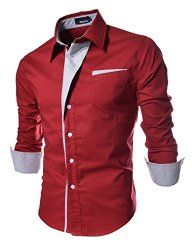Silkworld Men's Fashion Contrast Color Slim Fit Long Sleeve Shirt – Site: Project Fellowship
