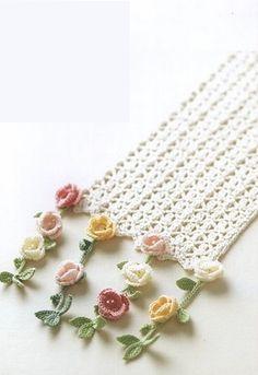 Crochet Flower - Chart ❥ 4U hilariafina http://www.pinterest.com/hilariafina/