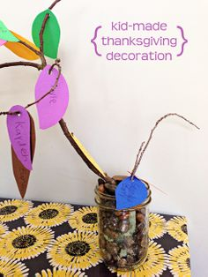 Project for kids on Thanksgiving Day