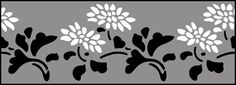 Fruit and Flower Chrysanthemum  stencils, stensils and stencles