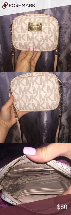 Micheal kors over the shoulder purse In great condition. No stains. Only have been used in special occasions Michael Kors Bags Crossbody Bags