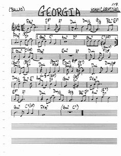 Jazz Standard Realbook chart GEORGIA