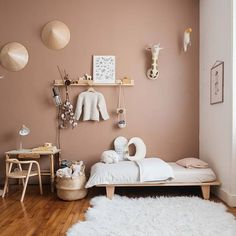 Kid room decor - my scandinavian home A Charming French Family Home Full of Inspiring Details Baby Bedroom, Home Bedroom, Kids Bedroom, Bedroom Furniture, Bedroom Decor, Wood Furniture, Scandinavian Home, Kid Spaces, Room Interior