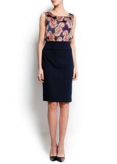 Paisley combi dress