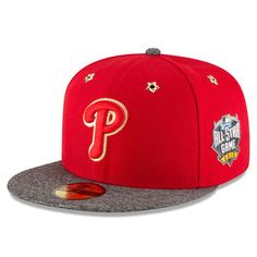 9f6d34c5c09 Philadelphia Phillies New Era 2016 MLB All-Star Game Patch 59FIFTY Fitted  Hat - Red Heathered Gray