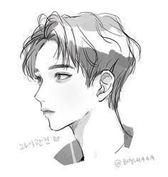 Manga Drawing, Drawing Sketches, Art Drawings, Handsome Anime Guys, Cute Anime Pics, Korean Art, Anime Sketch, Boy Art, Art Tutorials