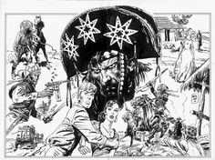 "chrissamnee: "" elcuchitrildejoe: "" Os congaceiros por Jordi Bernet "" Oh, holy cow is this ever beautiful. Jordi Bernet, Bristol Board, Bd Comics, Comic Drawing, Comic Page, Comic Artist, Comic Books Art, Illustrations Posters, Line Art"