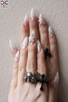 Long Gyaru nail art