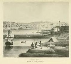 Sydney Cove (From an early painting) First Fleet, Colonial Art, Lovers Eyes, Sydney City, Built Environment, British, Australia, South Wales, History