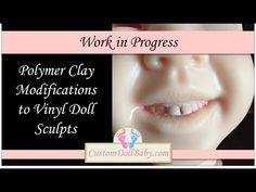 Making Polymer Clay Modifications to Vinyl Reborn Doll Sculpts, Part 2: Clay Match Paint - YouTube