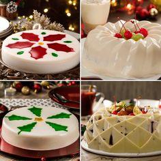 Una clásica gelatina siempre es el postre perfecto para terminar una cena y estas serán muy buenas opciones para Navidad. Prepara estas recetas de gelatinas navideñas y contarás con un postre fácil y ligero que combinará con los clásicos platillos de la cena navideña. Adornadas con pinos y noche buenas, y con sabores como ensalada de manzana y yoghurt, estas gelatinas les gustarán a todos. Gelatin Recipes, Jelly Recipes, Mexican Food Recipes, Dessert Recipes, Xmas Food, Christmas Drinks, Christmas Desserts, Helathy Food, Party Food Platters