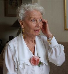 Lucienne Legrand, 92. Is a French actress.WOW what an inspiration!  More tips on widowed life @ widsnextdoor.com