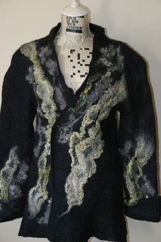 nuno felted jacket big is beautiful L to XL by Feltedwhispers, $224.00