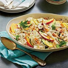 Summer pasta salad with lime vinaigrette  Subbed in sweet potato and acorn squash