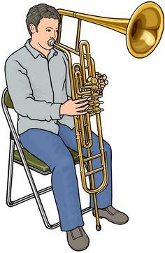 管楽器:チンバッソ (cimbasso) の演奏。イタリアで使われている低音金管楽器。
