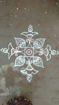 Alpana Rangoli Deisgn, 2019 Best Collection of Rangoli Design - Fashion Best Rangoli Design, Rangoli Designs Latest, Rangoli Designs With Dots, Rangoli Designs Diwali, Rangoli Designs Images, Diwali Rangoli, Beautiful Rangoli Designs, Rangoli Borders, Rangoli Border Designs