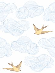 Daydream (Sunshine) Tile ... wallpaper.  Saw this used on a nursery ceiling.  Lots of other amazing wallpapers at this link.