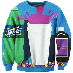 Dirty Sprite Sweatshirt ($50) ❤ liked on Polyvore featuring tops, hoodies, sweatshirts, zipper sweatshirt, zip sweatshirt, sweatshirt hoodies, zipper top and zip top