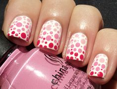 ombre pink polka dots...