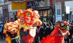 Chinese New Year Parade in Chicago Chinatown