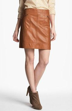 Try it! Fall Leather Skirt