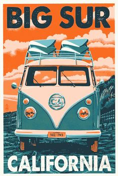 Long Beach Island, New Jersey - VW Van - Lantern Press Artwork Giclee Art Print, Gallery Framed, Espresso Wood), Multi California Vw, Encinitas California, Oceanside California, Ventura California, Vintage California, Bolinas California, Southern California, Cambria California, Huntington Beach California