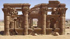 """Ancient Nubia. """"Kiosk"""" at Naqa, Sixth Cataract, South of Meroe"""