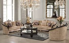 25 Adorable Traditional Living Room Furniture Design And Decor Ideas Leather Living Room Set, Bed In Living Room, Living Room Carpet, Living Room Decor, Dining Room, Elegant Living Room, Formal Living Rooms, Traditional Living Room Furniture, Restaurants