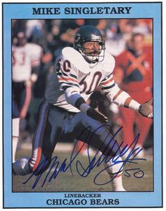Chicago Bears Legend Mike Singletary Autographed Picture