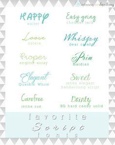 Top 10 Favorite Script Fonts, Delineateyourdwelling.com