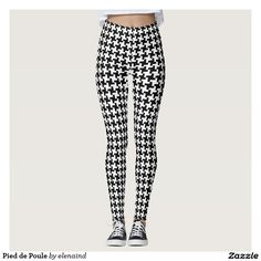 #Zazzle Pied de Poule Leggings