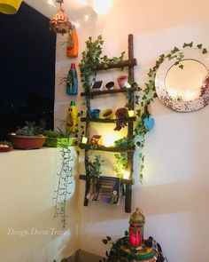 I love the chill in the air . We have been missing Mr Sun 🌞 for more than 10 days now but I somehow love the moonlight peeping… Terrace Decor, Small Balcony Decor, India Home Decor, Ethnic Home Decor, House Plants Decor, Plant Decor, Pinterest Room Decor, Diy Crafts For Home Decor, Diy Wall Decor For Bedroom