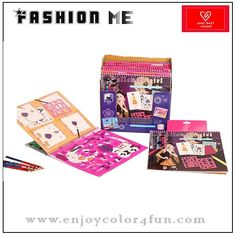 fashion design sketch book Item: fashion design sketch book  Item No: FMBO19  Size:    24*26 cm for A4                  15*21 cm for A5   any size under customer's requirements  Printing: offset printing   Design: we have more than 20 designs of the coloring book by us             OEM is welcome