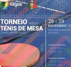 Pavilhão Municipal de Vagos acolhe Torneio de Ténis de Mesa