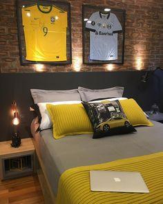 25 Cool Lighting Decor Ideas For Teen Boys Room Boys Room Design, Boys Room Decor, Boy Room, Kids Room, Male Bedroom Decor, Soccer Bedroom, Teenage Room, Small Room Bedroom, Girls Bedroom