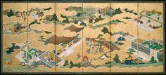 Isabella Stewart Gardner Museum : Pair of Six-Panel Screens: Scenes from the Tale of Genji