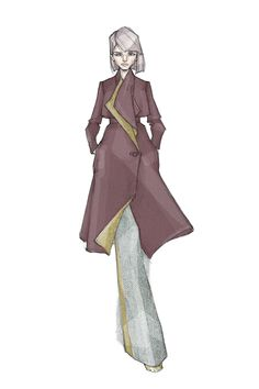 fall 2016, commissioned work #zejak #milanzejak #drawing #handdrawing #sketches #fashionsketches #illustration #fashionillustration #fashiondesign #fashion #tweed #coat #girl #colouring #texture #belgrade