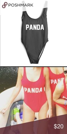 Panda swimsuit in red Size small red panda swimsuit: ordered extras for a bachelorette trip and never worn. Swim One Pieces