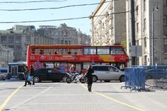a touristic bus in Moscow