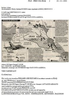 Very Secret Service - NO WAR IRAQ - 2 TO 10 - SERVICE DIVERTED !! INTERREX PRIVATE !!